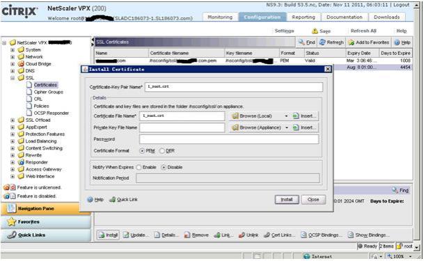Citrix NetScaler SSL证书部署指南
